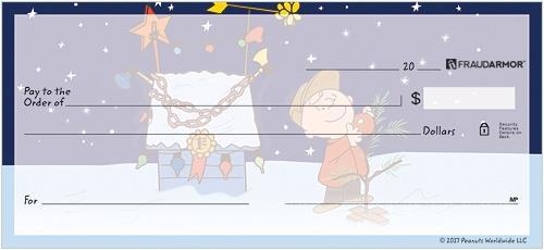 Charlie Brown Christmas Personal Checks