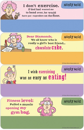 Aunty Acid Diet & Exercise Address Labels