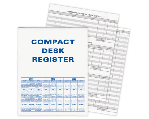 Extra Compact Desk Transaction Register