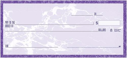 Park Avenue Desk Checks Lavender American Bank Checks