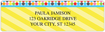 Bright Pop Address Labels