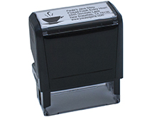 5 Line Self-Inking Stamp with Logo