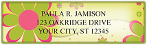 Gail Marie® Crazy Daisy Address Labels