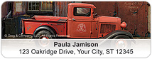 Vintage Trucks Address Labels