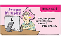 Aunty Acid Money Leather Cover