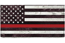 Support Our Firefighters Leather Cover