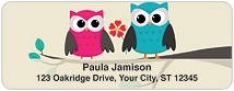 Whimsical Owls Address Labels