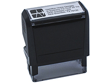 4 Line Self-Inking Stamp with Logo